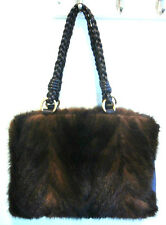 Paolo Masi Brown Mink Tote Shoulder Bag