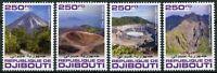 Djibouti Landscapes Stamps 2020 MNH Volcanoes Mount Etna Aso Sakurajima 4v Set