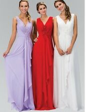NWT GLS Apparel Soft White Pleated Gown Wedding Dress W/ David's Bridal Flair M