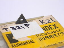 NEW SURPLUS 1PC. KENNAMETAL   T 321P  GRADE: K21  CARBIDE INSERT
