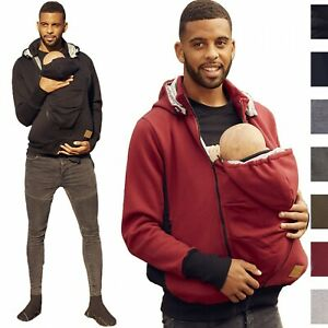 HAPPY MAMA Men's Kangaroo Hoodie Dad and Baby Carrier Coat Holder Pullover 1177