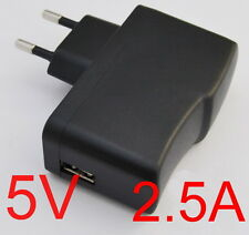 AC Converter Adapter DC 5V 2.5A Power Supply Charger EU plug 2500mA USB 12.5W