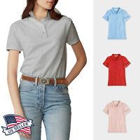 Womens Polo T shirts Casual Uniform Golf Shirt Dry Sports Tennis Pique Slim Fit