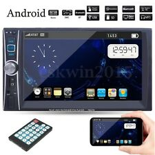 Double 2 DIN 6.6'' Bluetooth In Dash Car MP3 MP5 Player Stereo Touch Screen