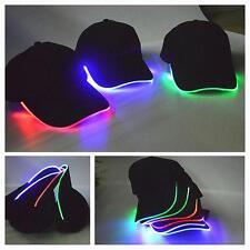 LED lighted up hat Glow Club Fiesta Hip Hop Ajustable Gorra Beisbol Deportes OP