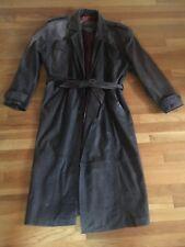 Leather Jacket Trenchcoat Men's Medium Mirage Genuine Leather