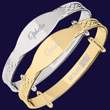 Ophelia Personalised Newborn Baby Bracelet Christening Birthday Bangle Gift Box