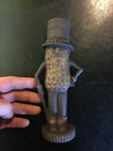 Mr. Peanut Cast Iron Piggy Bank Paperweight Collectible Planters Man Cave GIFT