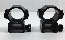 "1"" Heavy Duty Weaver 1 Inch Aluminum Rifle Scope Rings Medium Rise Hexagon Shape"
