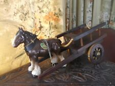 """VINTAGE """"MELBA WARE"""" SHIRE HORSE AND CART, PART HARNESS"""