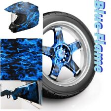 Dip Hydrographics Film Water Transfer Printing reduced BLUE FLAME 0.5x2 meter US