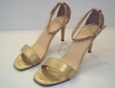 Summit White Mountain Marisela Gold Metallic Leather Sandal Sz 40 9-9.5