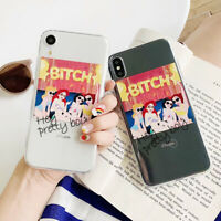 For iPhone 11 XS XR Max 8 7 6 Cute Cartoon Princess Disney TPU Phone Case Cover