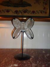Rustic Wrought Iron Celestial Butterfly Sculpture Tealight Holder Sculpture