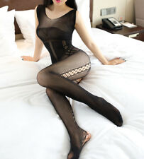 Catsuit Sexy Bodystocking Ouvert Body Erotik Dessous Reizwäsche Overall Negligee