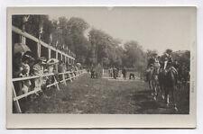 CARTE PHOTO Jules Robuchon Poitiers Hippodrome Champ course Chevaux Foule 1900
