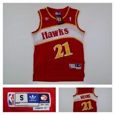 Vintage Adidas NBA Atlanta Hawks Dominique Wilkins #21 Swingman Jersey Small
