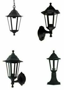 LED Black Traditional Coach House Outside Lantern Hanging Post Top Wall PIR