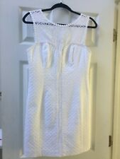 Lilly Pulitzer Size 4 White Dress Fully Lined Sleeveless