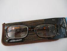 NEW!! FOSTER GRANT MENS BROWN READING GLASSES W/CASE +1.75 BOSTON