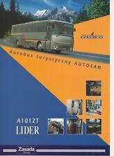 Autosan A 1012 T Lider bus (made in Poland) _1998 Prospekt / Brochure