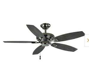 Hampton Bay North Pond 51719 -52 in Polished Nickel Ceiling Fan Wet areas