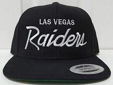 NEW! Las Vegas Raiders Script Cap Hat Snapback Black NWA EAZY E