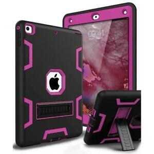 NEW Military Shockproof Heavy Duty Rubber Hybrid Stand Case Cover For Apple iPad