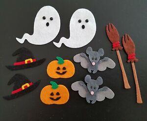 Felt Halloween Embellishments. die cuts