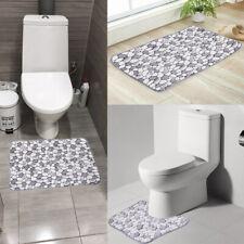 Washable Pebble Shape Bathroom Carpet Non Slip pad Bath Mat Toilet Floor Rugs