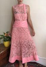 Self-portrait A-line Maxi Dress Uk 12 Satin Lace Floral