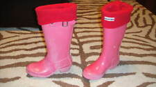 HUNTER GIRLS PINK BOOTS 1M/2F 1 W/ WARMERS