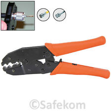 Coax CCTV Coaxial Cable Crimper Hand Tool Plier Crimp Crimping Steel Body Pliers