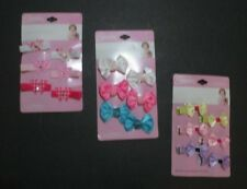 New Expressions Lot Of 18 Baby Toddler Little Girl Hair Clips Bows Pink Blue #3
