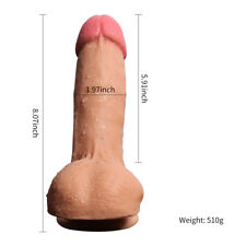 Dildo Super Realistic Skin Touch Thick Fat Textured Silicone Sex Toy For Women