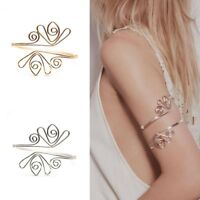 Women Open Upper Arm Cuff Armlet Armband Bangle Bracelet Egypt Curve Jewelry US