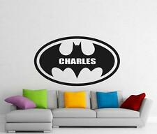 Personalised Batman / Batgirl Stickers,Boys and Girls Bedroom Wall Decal 048