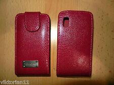 Ledertasche Handy Tasche Etui Schutzhülle Samsung GT-S5230 S5230 Star Pink Snake