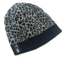 UFC Reebok MMA Octagon Woman Ladies Cheetah Gray Black Knit toque Beanie Hat Cap