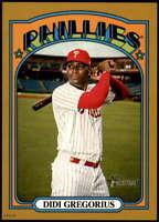 Didi Gregorius 2021 Topps Heritage 5x7 Gold #409 SP /10 Phillies