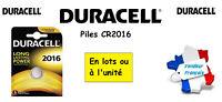 Piles boutons lithium Duracell CR2016 3V, ** Expédition Rapide Et Gratuite **