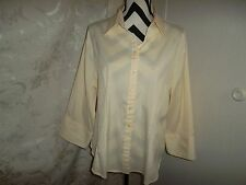 Cato woman size 18/20W yellow 3/4 sleeve blouse