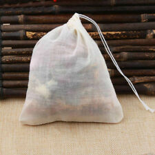 20 Pack Cotton Muslin White Drawstring Bags Large Bulk Herbs Tea Spice Bag