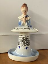 Enesco BLUE Mother in the Kitchen Prayer Lady Spoon Rest Storage Kitchen Prayer