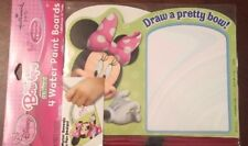 Minnie Mouse party supplies/party favors 4ct. water paint boards-girls favors