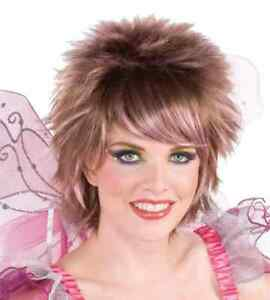 Pixie Wig Fantasy Fairies Short Spike Halloween Adult Costume Accessory 2 COLORS