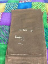 One pair vintage Francelle Cotton Garter stockings Seamed Brown 10 Flat Knit