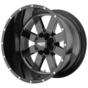 "Moto Metal MO962 20x10 6x5.5"" -24mm Black/Milled Wheel Rim 20"" Inch"