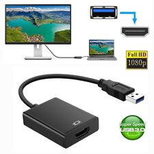 USB 3.0 to HDMI Audio Video Adaptor Converter Cable 1080P for Windows 7/8/10 PC