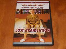 Lost In Translation Full Screen Bill Murray Scarlett Johansson Comedy Dvd